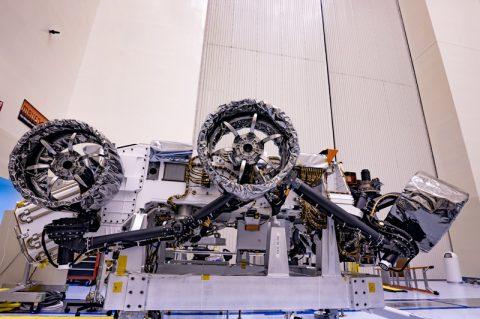 NASA's Perseverance Mars Rover Gets Its Wheels and Air Brakes