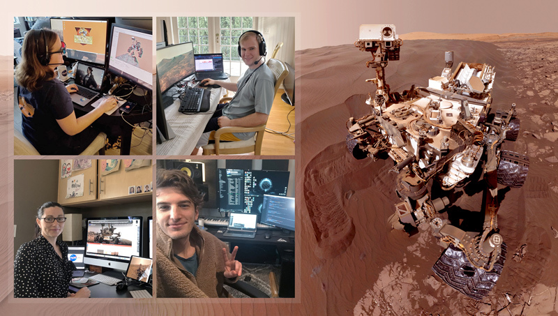 NASA's Curiosity Keeps Rolling As Team Operates Rover From Home