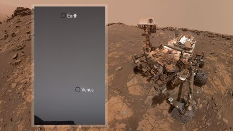 While Stargazing on Mars, NASA's Curiosity Rover Spots Earth and Venus