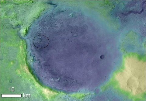 The ancient lakeshore of Jezero crater on Mars